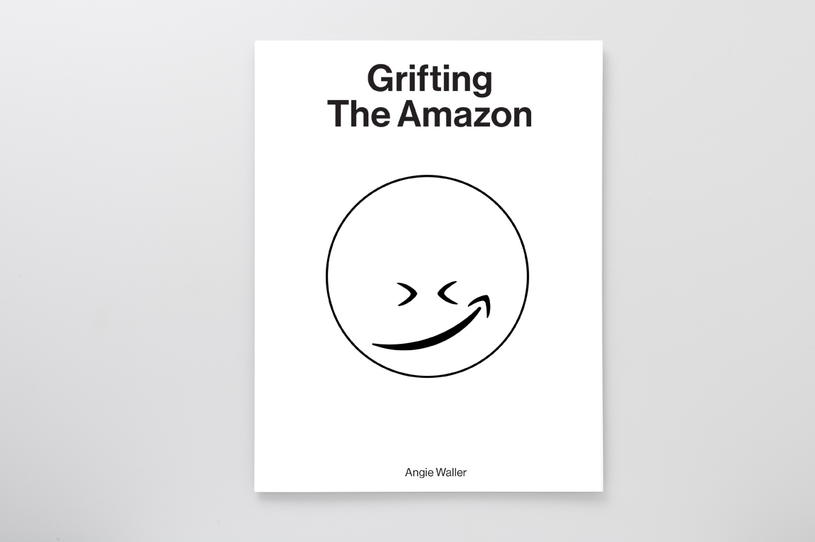 Cover of Grifting the Amazon featuring smirking smiley face